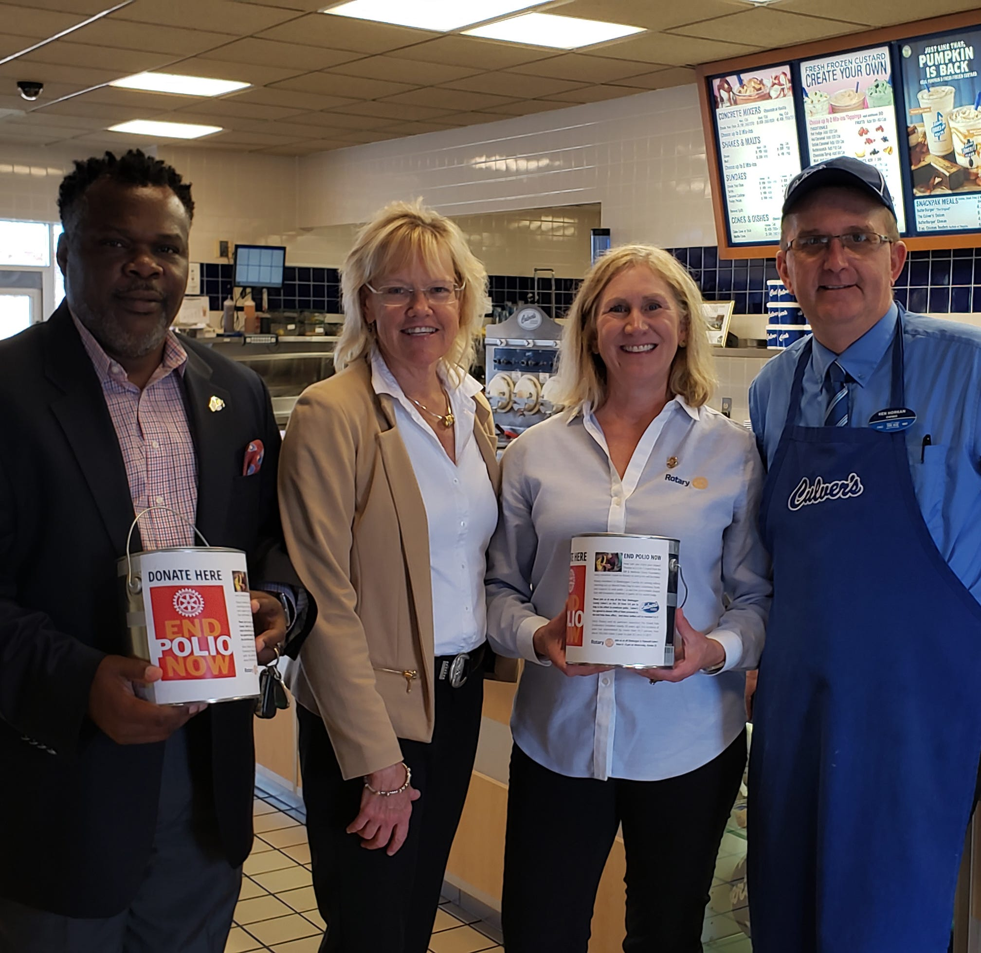 Sheboygan Culver's, Rotary fight to end polio with World Polio Day fundraiser