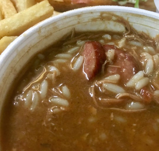 Chicken and sausage gumbo at Gumbo to Geaux.
