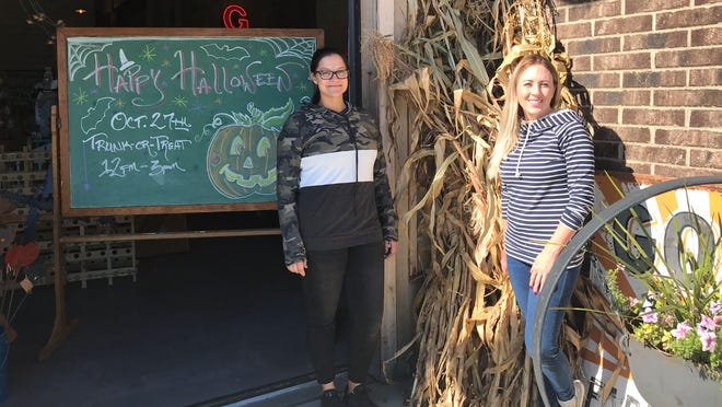 The Brandon Trunk or Treat event is being hosted by Gypsy Trading Co. owner Ellie Cutrer (left) and Beautique owner Amanda Christopherson from noon to 3 p.m. Saturday.