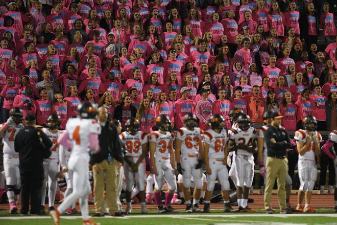Washington student section during the game against Lincoln Thursday, Oct. 18, at Howard Wood Field in Sioux Falls.