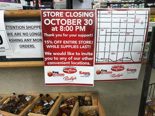 The Price Cutter at 1901 E. Division Street is closing on Oct. 30.