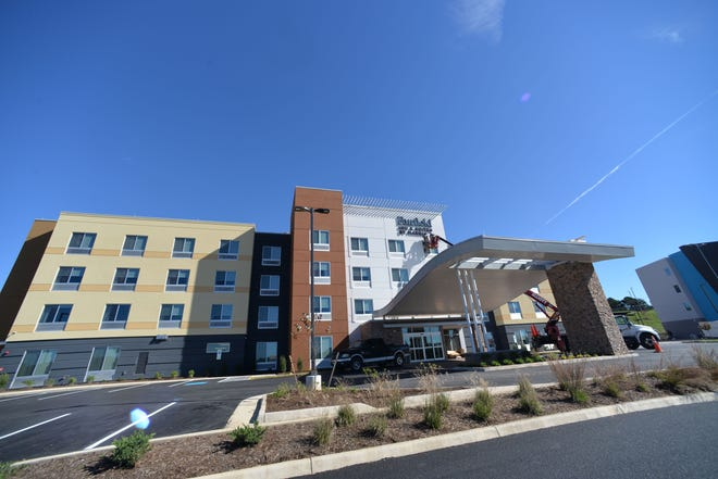 The Fairfield Inn & Suites by Marriott is set to open at Staunton Crossing on Oct. 22, 2018. The new Staunton hotel is the first of two hotels to open at the business park.
