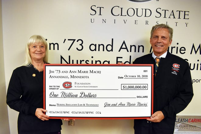Ann Marie and Jim Maciej gifted $1 million to the nursing program at St. Cloud State University.