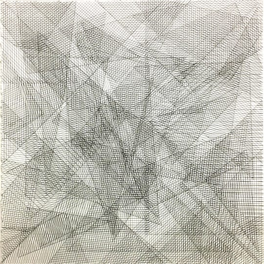 "System 01 by Hannah Ostraff, Ink on paper, 18""x18"""
