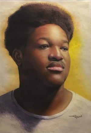 "Yellow by Zack Chapman, Pastel on paper, 16""x10.5"""