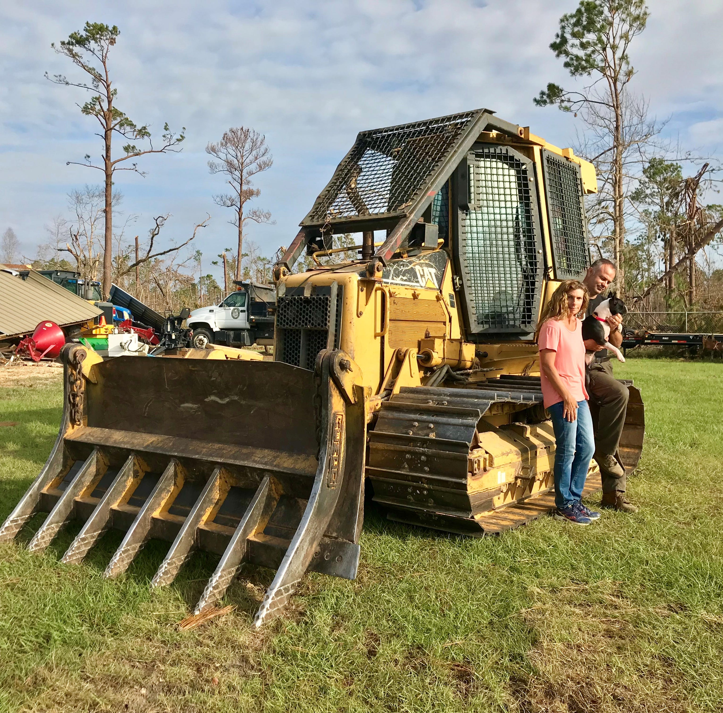 'Just praying for it to end': Family rides out Hurricane Michael in a bulldozer