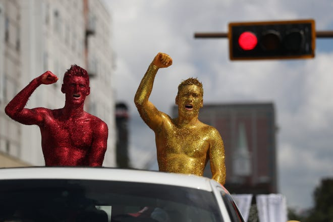 Florida State University held its annual homecoming parade through the streets of Tallahassee Friday, Oct. 19, 2018.