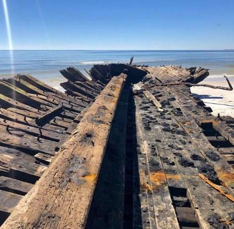 Ships wrecked on Dog Island in 1899 unearthed by Hurricane Michael