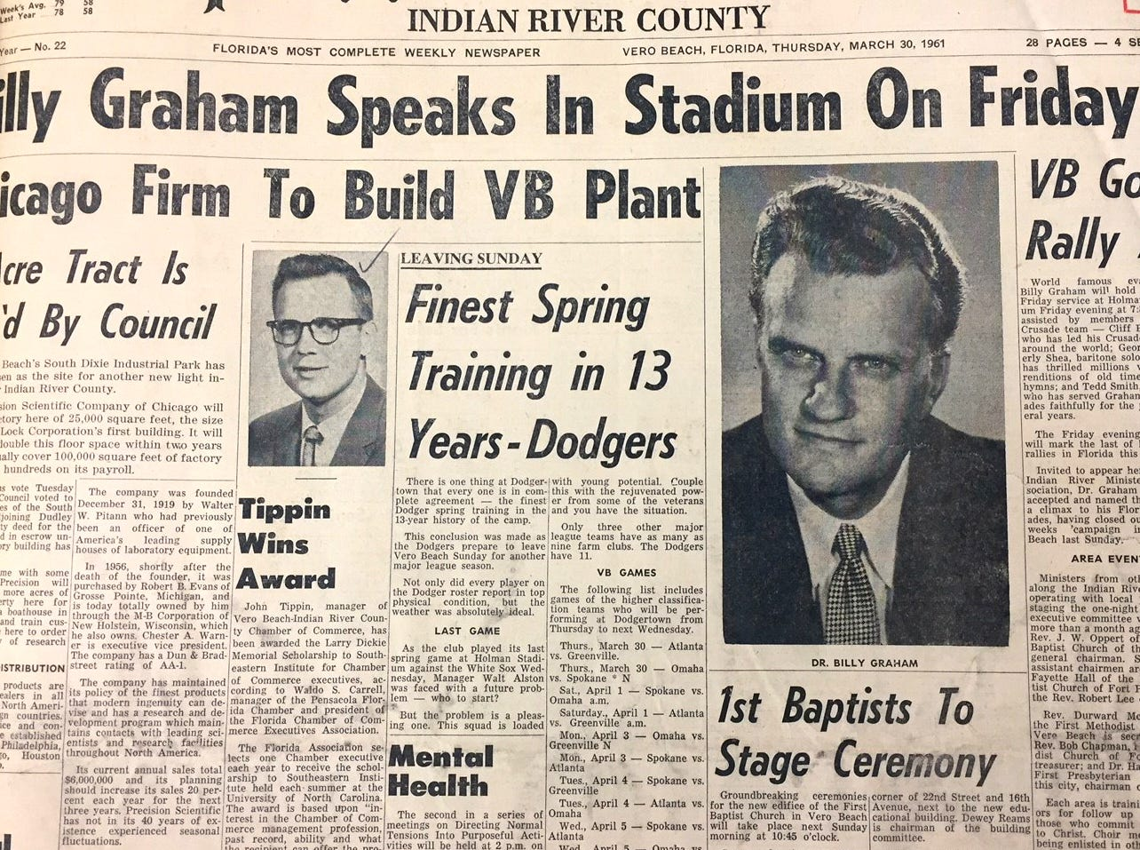 March 30, 1961, Press Journal front page