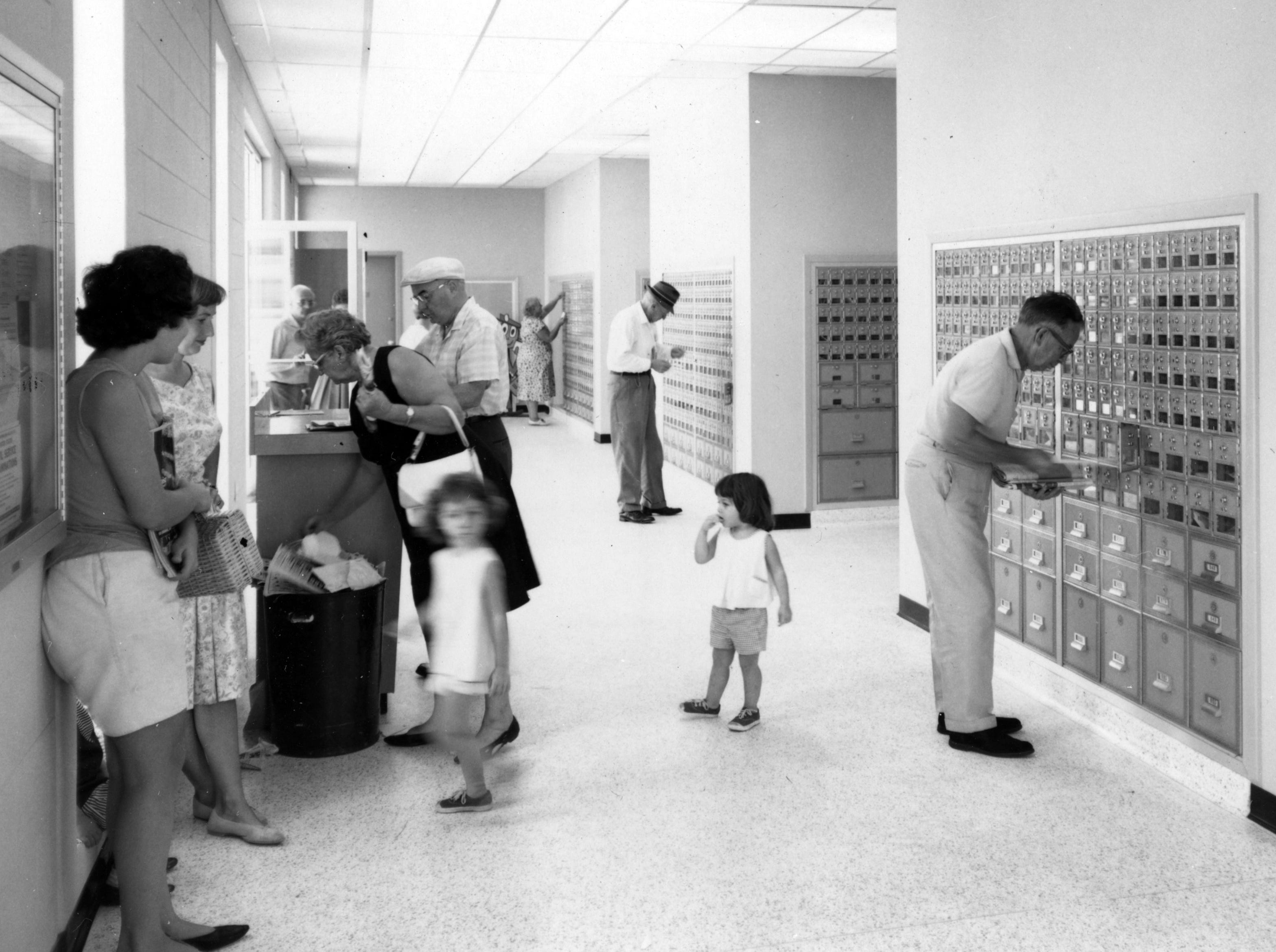 November 1965 - The downtown Vero Beach post office looks similar to how it did when it opened.