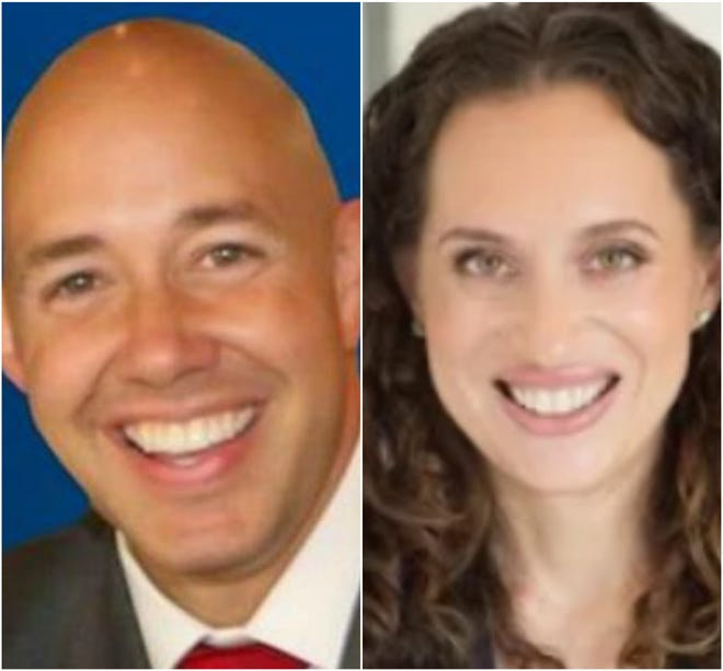 U.S. Rep. Brian Mast and Democratic challenger Lauren Baer
