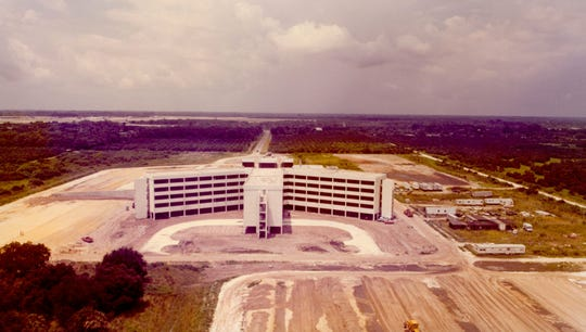 1978 - Indian River Memorial Hospital at 1000 36th St., Vero Beach, nears completion 1978
