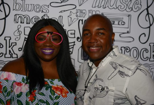 Ronda and Oliver Brown attended the  Glow Dance Party, a benefit for HANDS of St. Lucie, a Volunteers in Medicine Clinic.