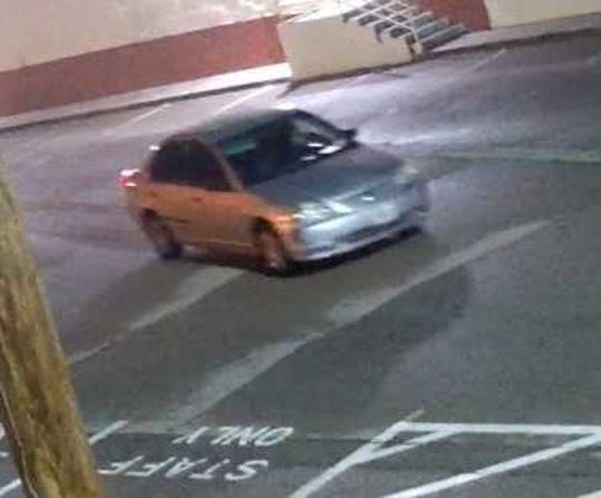 A suspect who fled in this car is suspected in auto burglaries at two El Paso businesses.