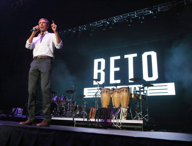 U.S. Senate candidate Rep. Beto O'Rourke attended a rally at Bert Ogden Arena in Edinburg, Texas, after appearing on a nationally televised tonwn hall broadcast by CNN.