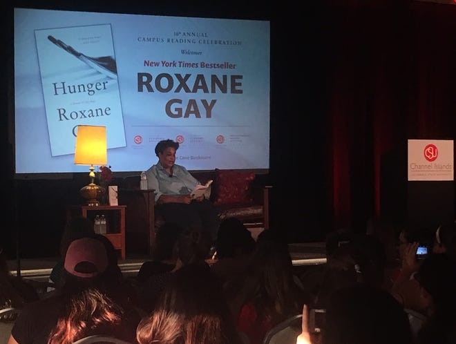 """Author Roxane Gay spoke at CSU Channel Islands on Thursday. She read from her book, """"Hunger: A Memoir of (My) Body."""""""