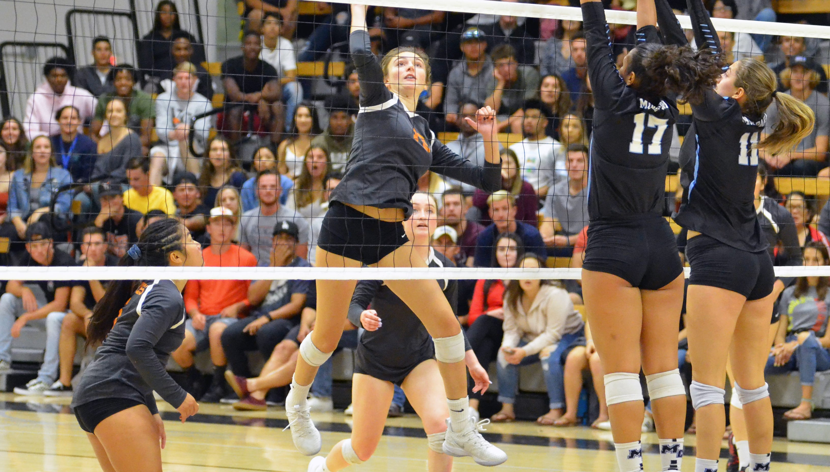 Energized VC wins women's volleyball showdown with rival Moorpark College