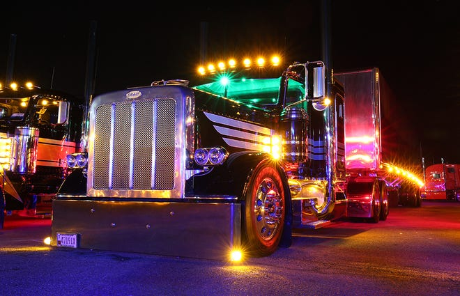Big rigs will be decorated in thousands of lights at 7 p.m. Saturday as the American Truck Show Circuit's Monster Stack Shootout takes place this weekend at the Ventura County Fairgrounds.