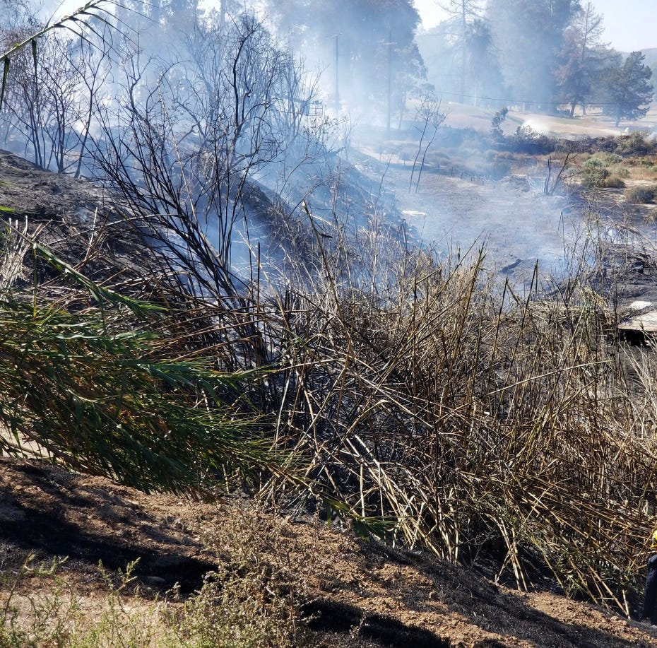 Ventura County crews knock down six-acre brush fire near Santa Paula