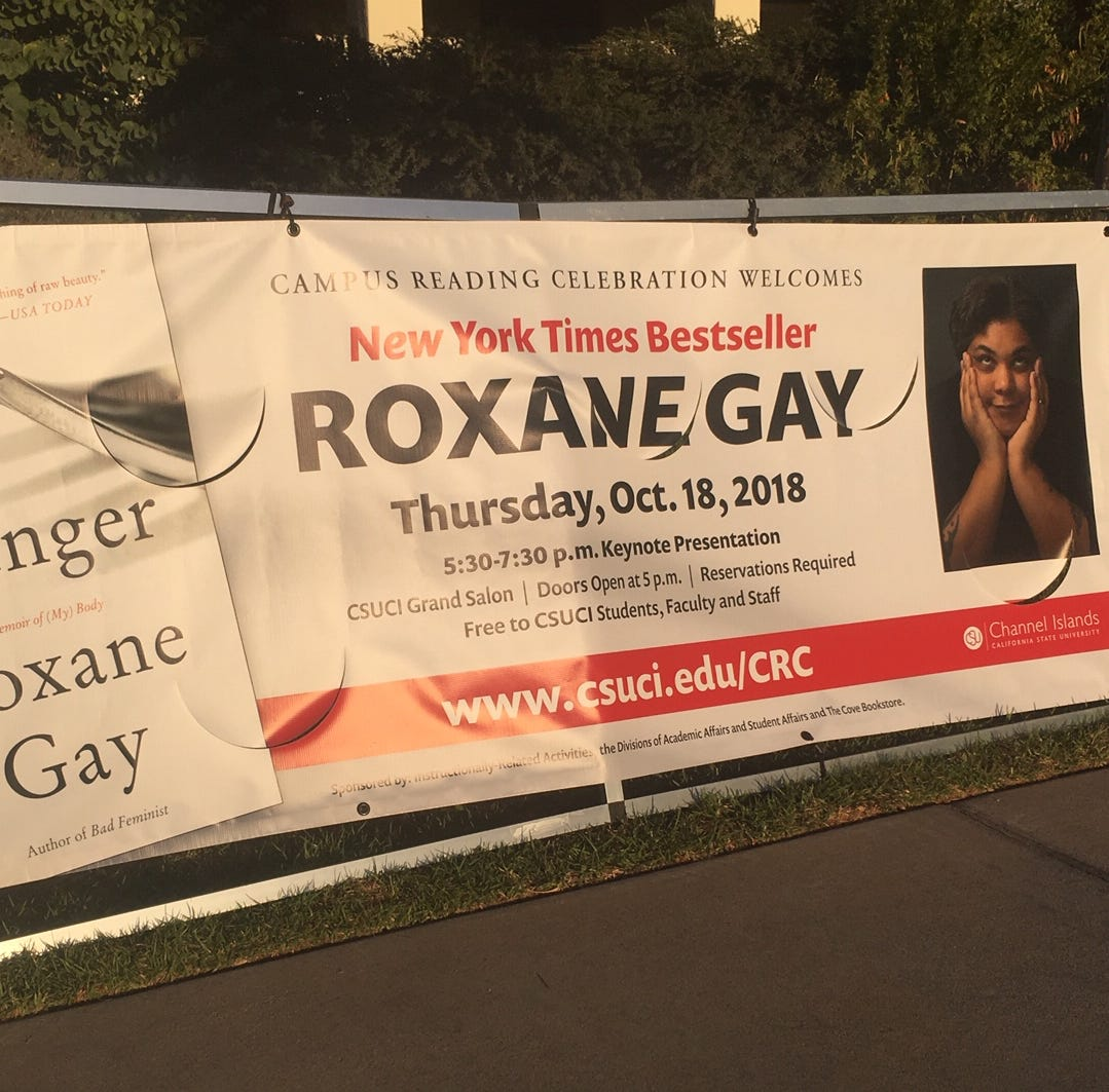 Author Roxane Gay spoke at CSU Channel Islands on Thursday. She read from her book and answered questions about writing, politics and #MeToo.