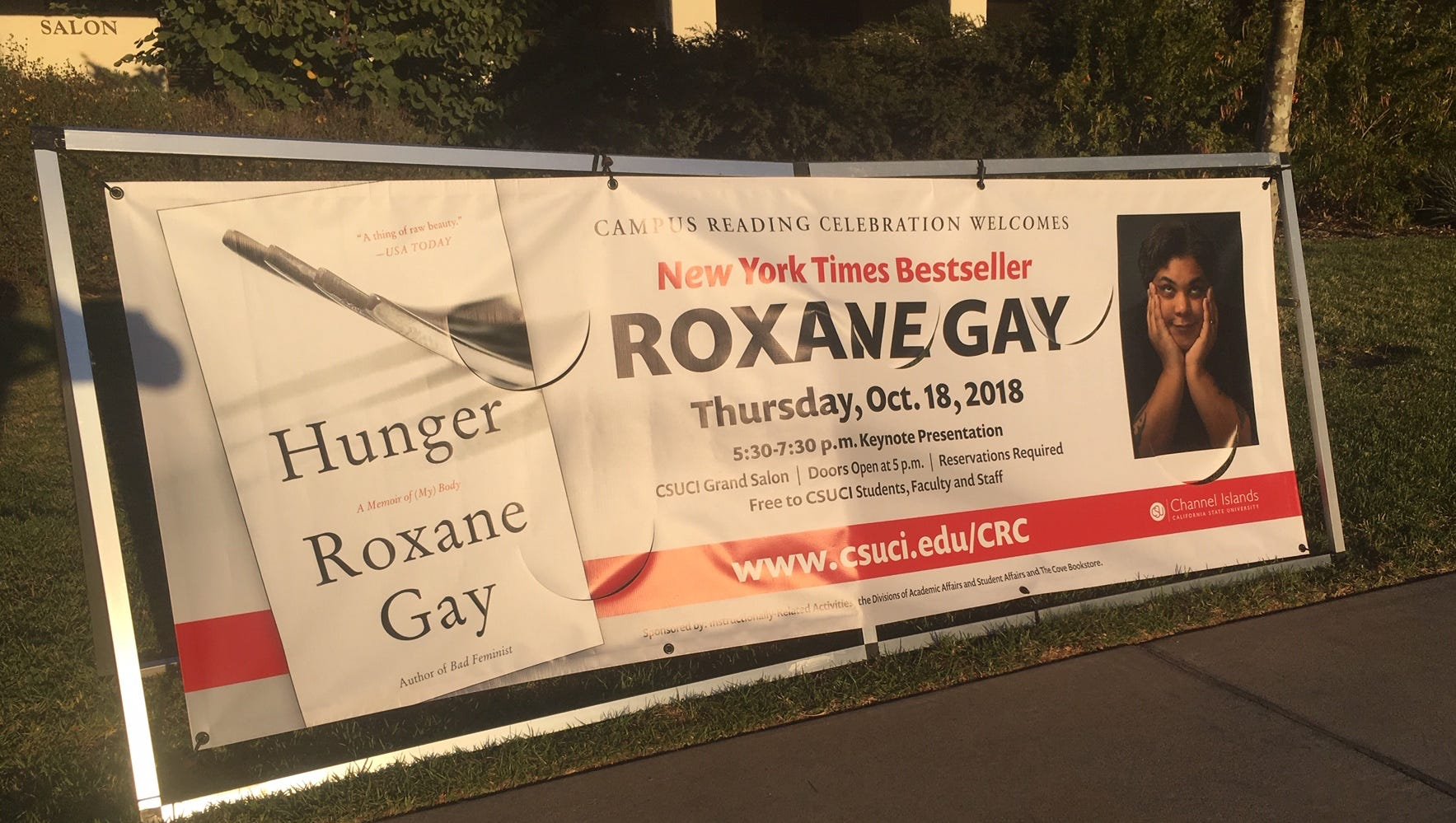 'Hunger' author Roxane Gay discusses writing, #MeToo and Trump at CSU  Channel Islands