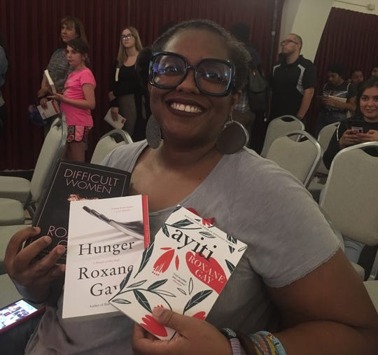"""Carrie Sandles traveled from Bakersfield to see author Roxane Gay at CSU Channel Islands on Thursday. Sandles called her the """"epitome of black excellence."""""""