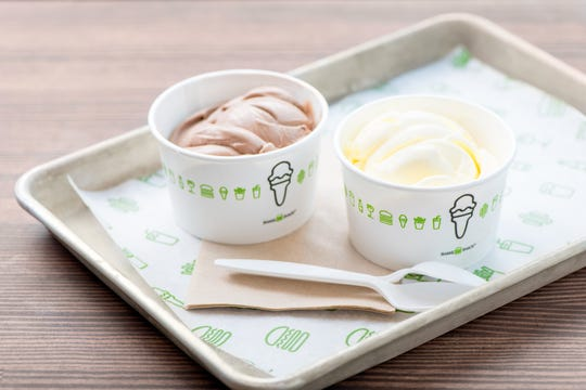 Chocolate and vanilla frozen custards are served at Shake Shack, a New York-based chain that opened its first Ventura County location last October in Thousand Oaks.