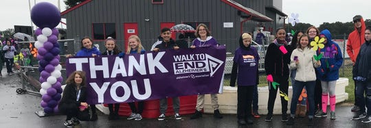 Lakeside Middle School's National Junior Honor Society participated in the Walk to End Alzheimer's.