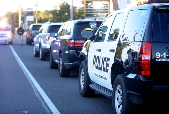 A large police presence gathered in the 2500 block of Delsea Drive in Vineland on Thursday, October 18, 2018.