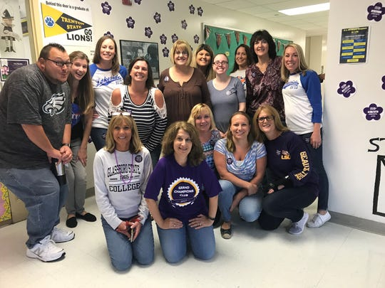 Lakeside Middle School staff members participated in a Casual for a Cause Day sponsored by the school's National Junior Honor Society to provide support for the Alzheimer's Association.