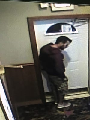 Images of aman wanted in a Sept. 16 hit-and-run crash in Schofield were caught on surveillance video.