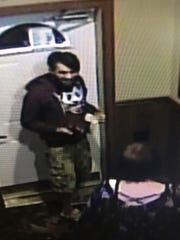An image from a surveillance video shows a man accused in a Sept. 16 hit-and-run crash in Schofield.