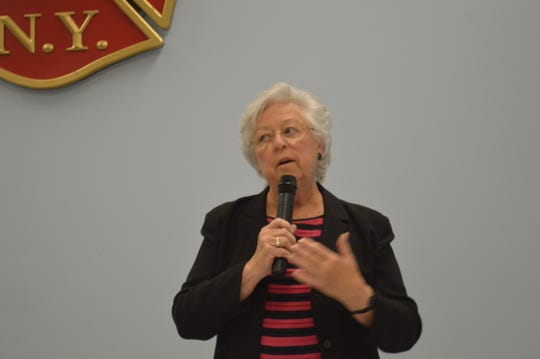 Assemblywoman Sandy Galef, D-Ossining, in Kent on  Oct. 18.