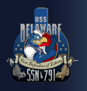 The USS Delaware will be christened Saturday. Its commissioning and full entry to Navy service is expected next year.