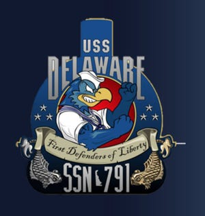 The USS Delaware will be christened Saturday. It's commissioning and full entry to Navy service is expected next year.