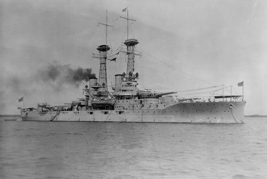 USS Delaware (BB28) in 1920.