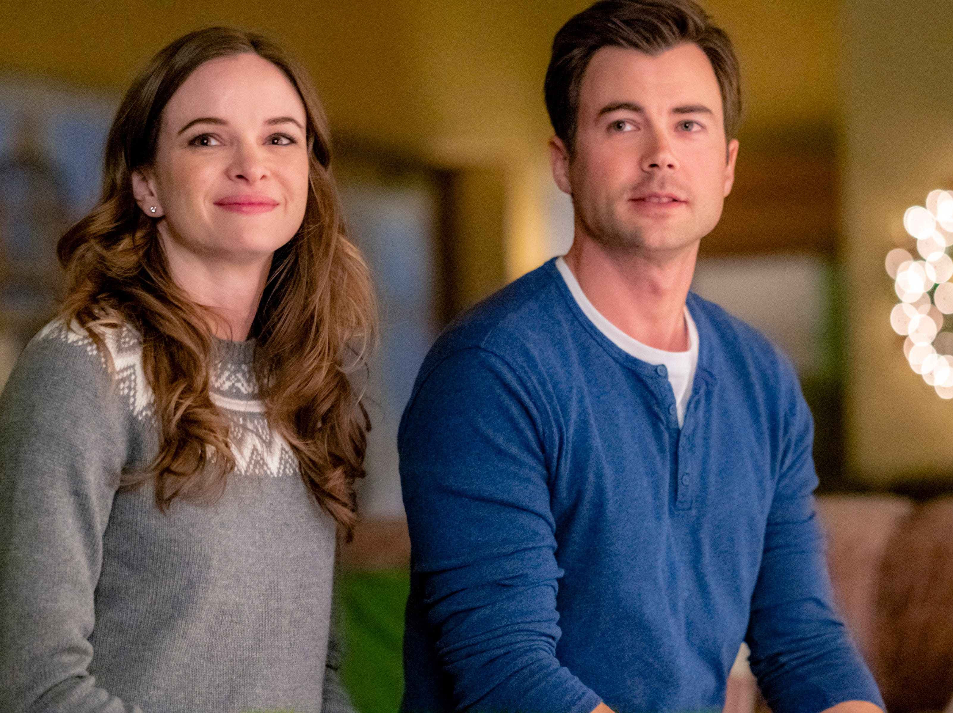 """""""Christmas Joy"""" (Hallmark, Nov. 3, 9 EDT/PDT): Joy Holbrook (Danielle Panabaker, """"The Flash"""") returns to Crystal Falls, N.C., to take her aunt's place in the town's baking competition with help from Joy's former crush, Ben (Matt Long)."""