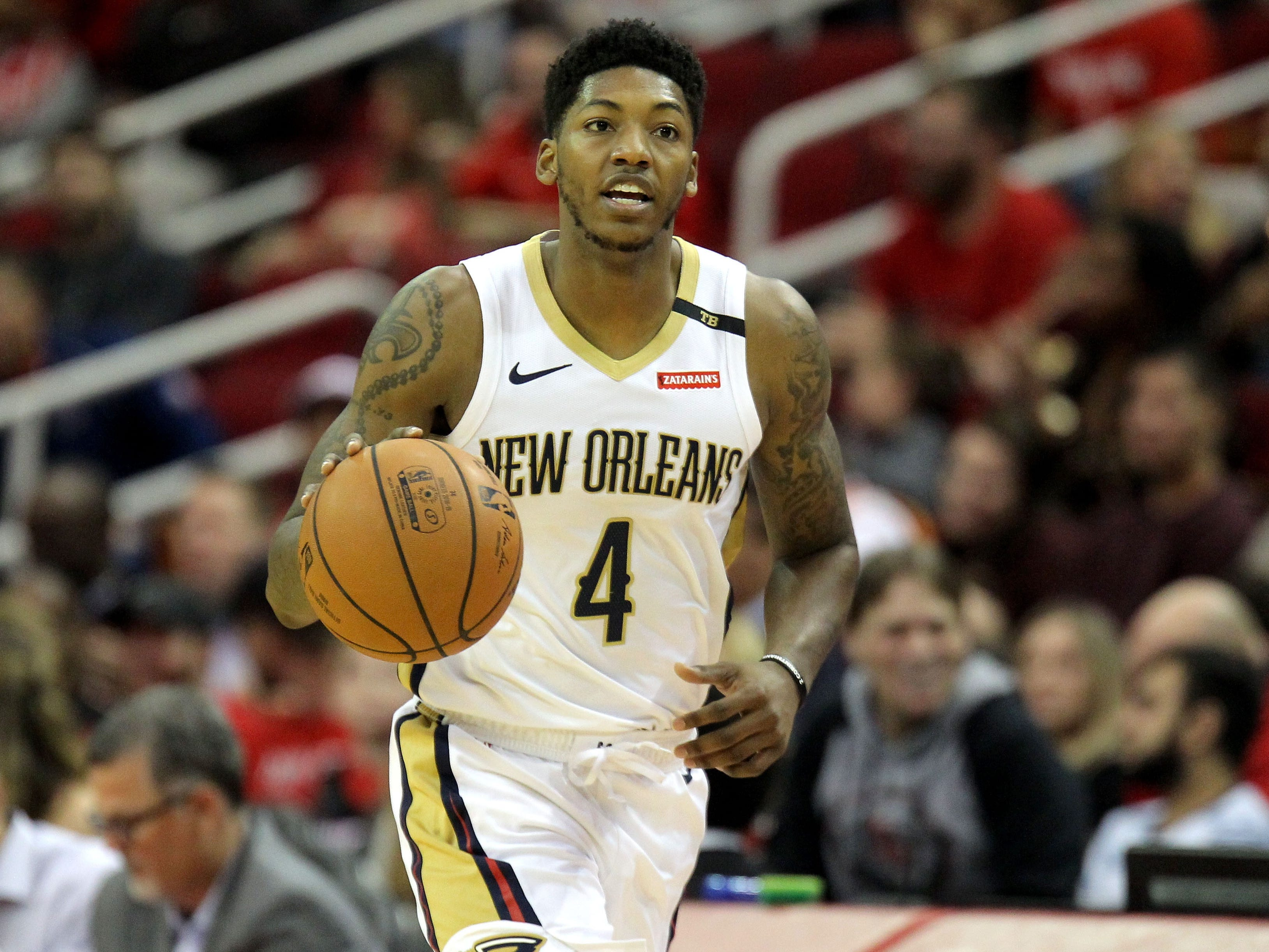 1. Elfrid Payton, Pelicans (Oct. 17): 10 points, 10 assists, 10 rebounds in 131-112 win over Rockets.