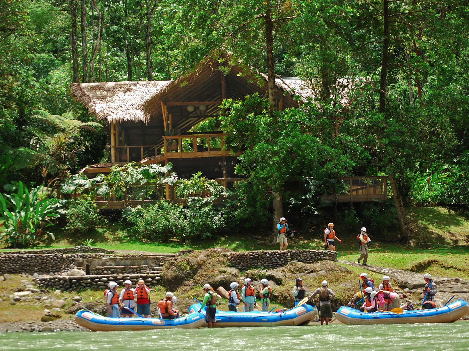 Pacuare Lodge is family-friendly up to a point: Guests need to be seven or older to stay at the lodge and 12 or older to join one of the rafting excursions.