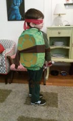 Jude Herron, dressed in a handmade TMNT costume for the second-straight year in 2014.