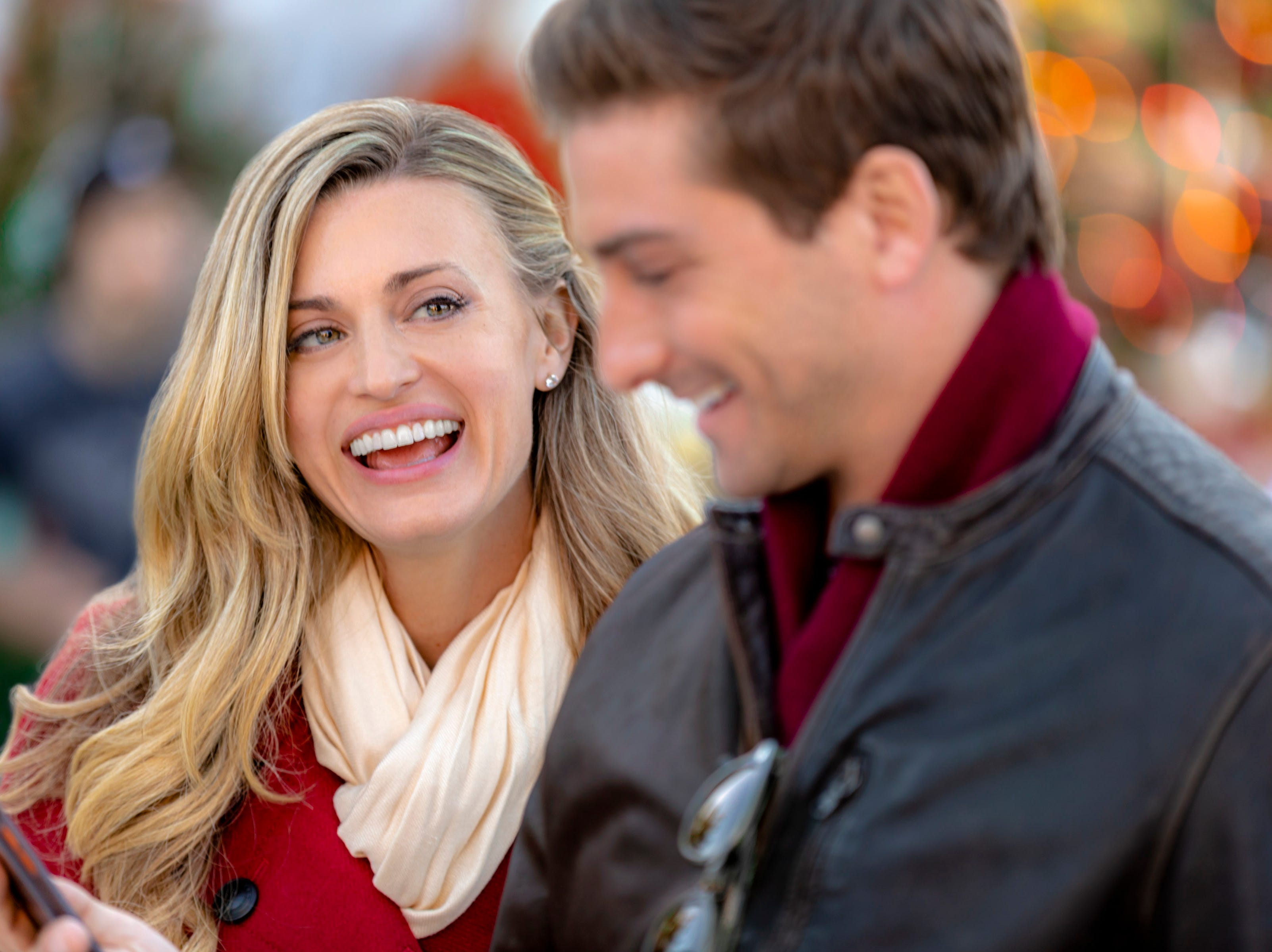 """""""Christmas in Love"""" (Hallmark, Nov. 11, EST/PST): Baker Ellie Hartman (Brooke D'Orsay) tries to show her company's new CEO Nick Carlingson (Daniel Lissing) the importance of people in the success of their bakery."""