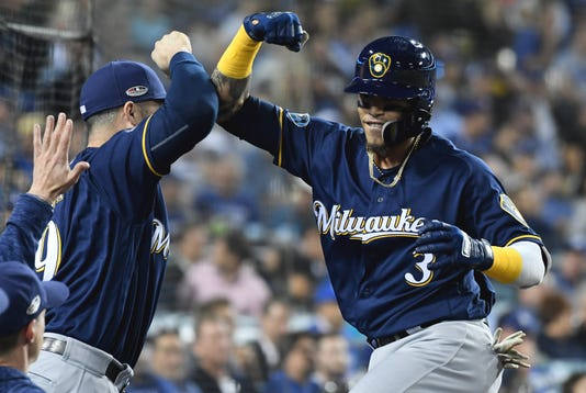 Mlb Nlcs Milwaukee Brewers At Los Angeles Dodgers
