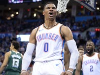 Russell Westbrook has averaged a triple-double over the last two seasons.