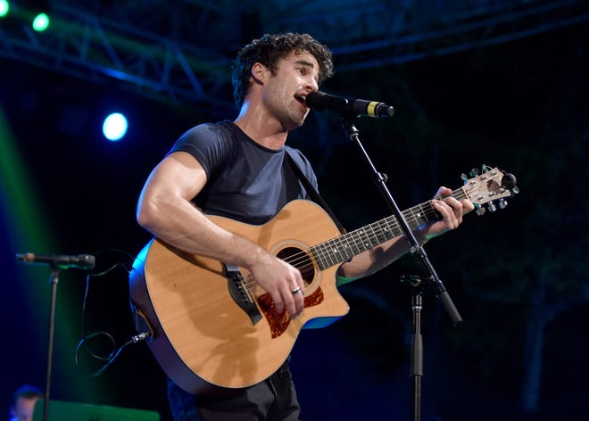 Darren Criss, pictured here at the 4th Annual Elsie Fest, performed a medley of Katy Perry songs at the amfAR Gala Los Angeles.
