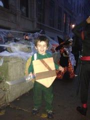 Jude Herron, dressed as Leonardo, the Teenage Mutant Ninja Turtle, in 2013. The costume was homemade for $5.