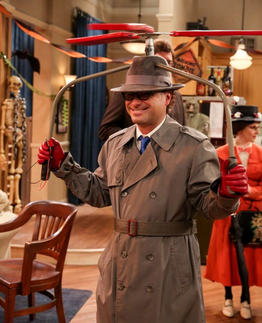 """The Big Bang Theory"" is known for going big for Halloween and this year is no exception. Let's take a fly over of this season's costumes with Leonard's Inspector Gadget (Johnny Galecki)."
