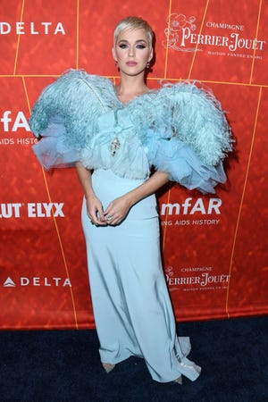 Katy Perry attends the amfAR Gala Los Angeles 2018 at Wallis Annenberg Center for the Performing Arts on October 18, 2018 in Beverly Hills, California.