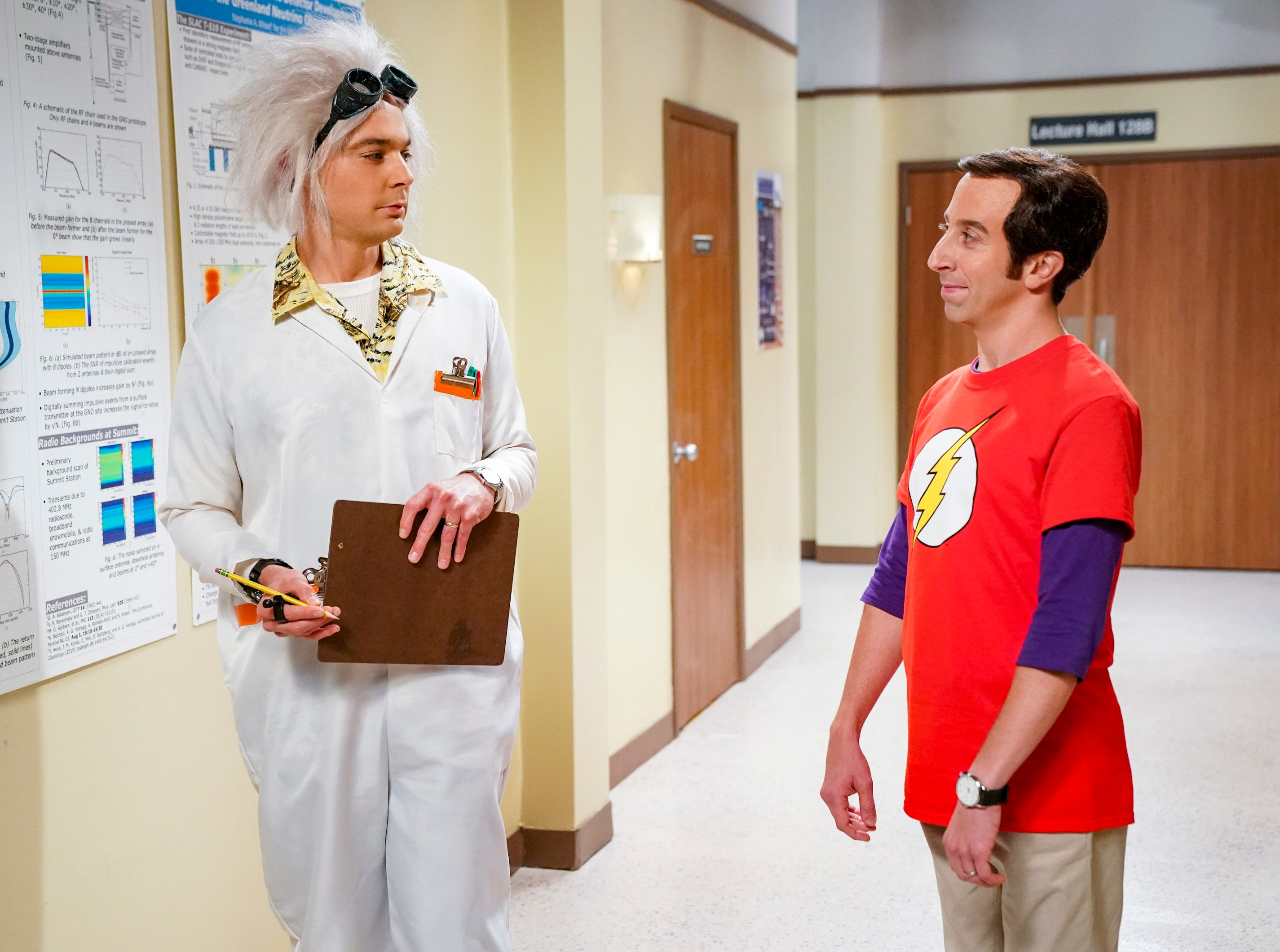 Something seems familiar about Howard's (Simon Helberg) costume at work, but Sheldon (Jim Parsons) may have some trouble figuring out exactly what it is.
