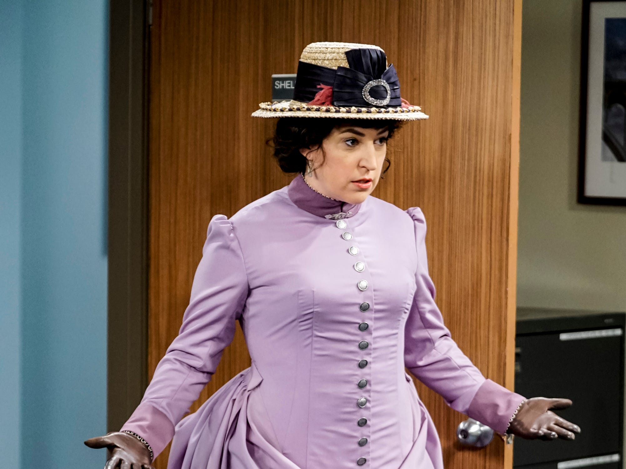 Perhaps Amy (Mayim Bialik) can salvage the day in her more traditional costume.