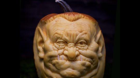 Pumpkin carving master Ray Villafane turns pumpkins into works of art